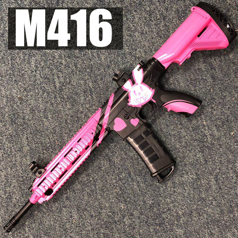 M416 Automatic Burst Water Gun Toy Children Boy Sniper Rifle Pistol Soft Paint Shooting Outdoor Toy Shooting Gun Children Gift