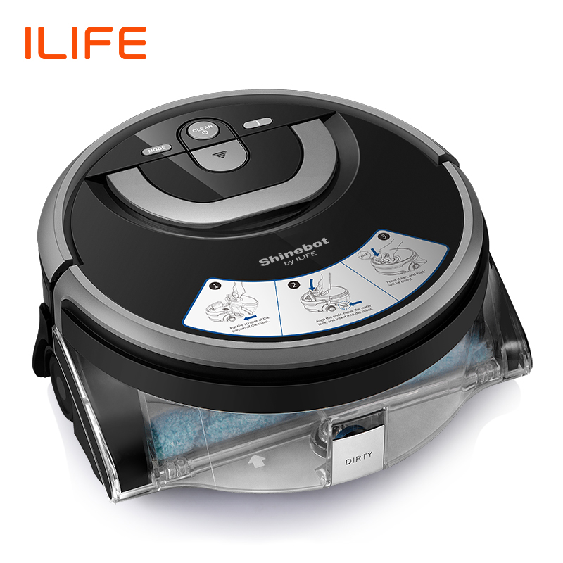 ILIFE nouveau W400 Robot de lavage de sol Shinebot Navigation grand réservoir d'eau cuisine nettoyage prévu Route de nettoyage