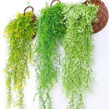 85cm 1pcs Artificial Air Hanging Vine Home Wedding Hotel Background Wall Decorative Green Vines