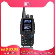Quad Band Walkie talkie UHF VHF 136 147 MHz 400 470 MHz 220 270 MHz 350 390 MHz 4 Band แบบใช้มือถือวิทยุ HAM Transceiver KT 8R