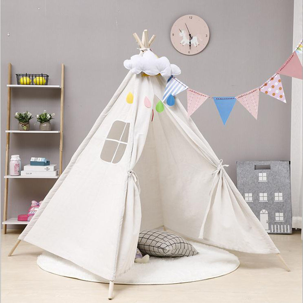 Children Kids Large Wigwam Teepee Tent Play Canvas House Gift Indoor Outdoor UK