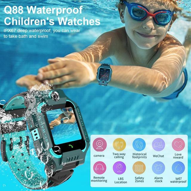 Enfants montre intelligente GPS LBS localisation suivi SmartWatch carte SIM appel bidirectionnel SOS appel caméra à distance alarme Anti perte enfants montres