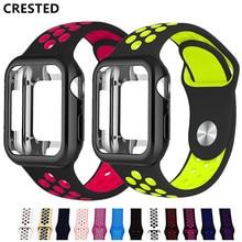 Чехол+ ремешок для apple watch band pulseira apple watch 5 4 3 band 44 мм/40 мм iwatch band cover 42 мм/38 мм correa ремешок для часов браслет
