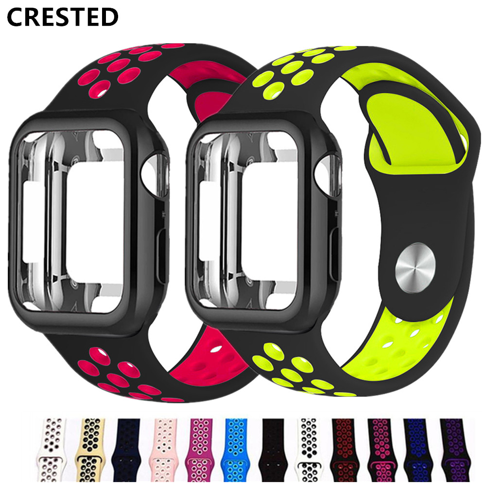Case+Strap For Apple Watch Band Pulseira Apple Watch 5 4 3 Band 44mm/40mm Iwatch Band Cover 42mm/38mm Correa Watchband Bracelet