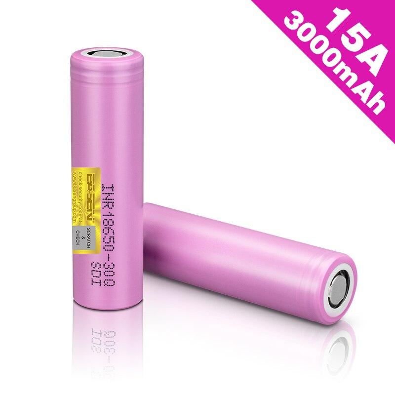 BASEN 100% Original 30Q 18650 Battery 3000mah Hight Power Discharge li-ion Rechargeable Batteries 30A larger current INR18650