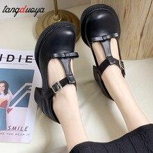 Zapatos de tacón bajo para mujer, zapatos de lolita de tacón alto, zapatos oxford bonitos vintage, zapatos coreanos de tacón bonito para mujer, zapatos de mujer 2020