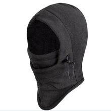 Зимняя утепленная Флисовая Балаклава, шапка с капюшоном, защита шарф для шеи, уличная велосипедная маска для лица, Спортивная велосипедная теплая маска для мужчин