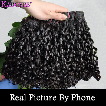 "Funmi Hair Human Hair Bundles Pissy curly Hair Bundles Brazilian Hair Weave 3 Bundles Deal Remy Hair Extension 10""-24"" For Women"
