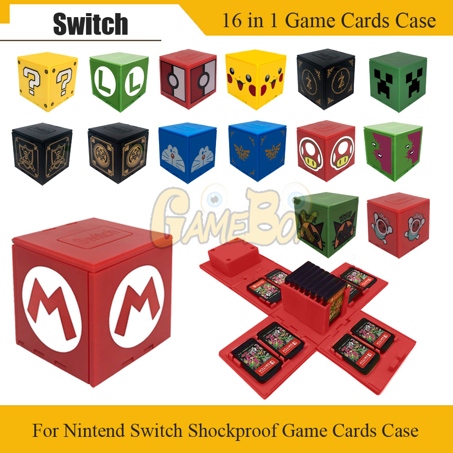 New Est For Nintend Switch Shockproof Game Cards Case NS Hard Shell Box For Nitend Switch Games Storage Accessories 16 In 1