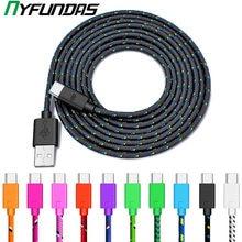 Câble Micro USB type-c tressé en Nylon pour recharge rapide et synchronisation de données, cordon de chargeur usb-c pour Samsung S9 S10 S8 Huawei Xiaomi Mi 9, 1M/2M/3M