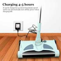 New Ultra Quiet Stainless Home Wireless Electric Hand Push Sweeper Spinning Broom Mop Household Cleaning