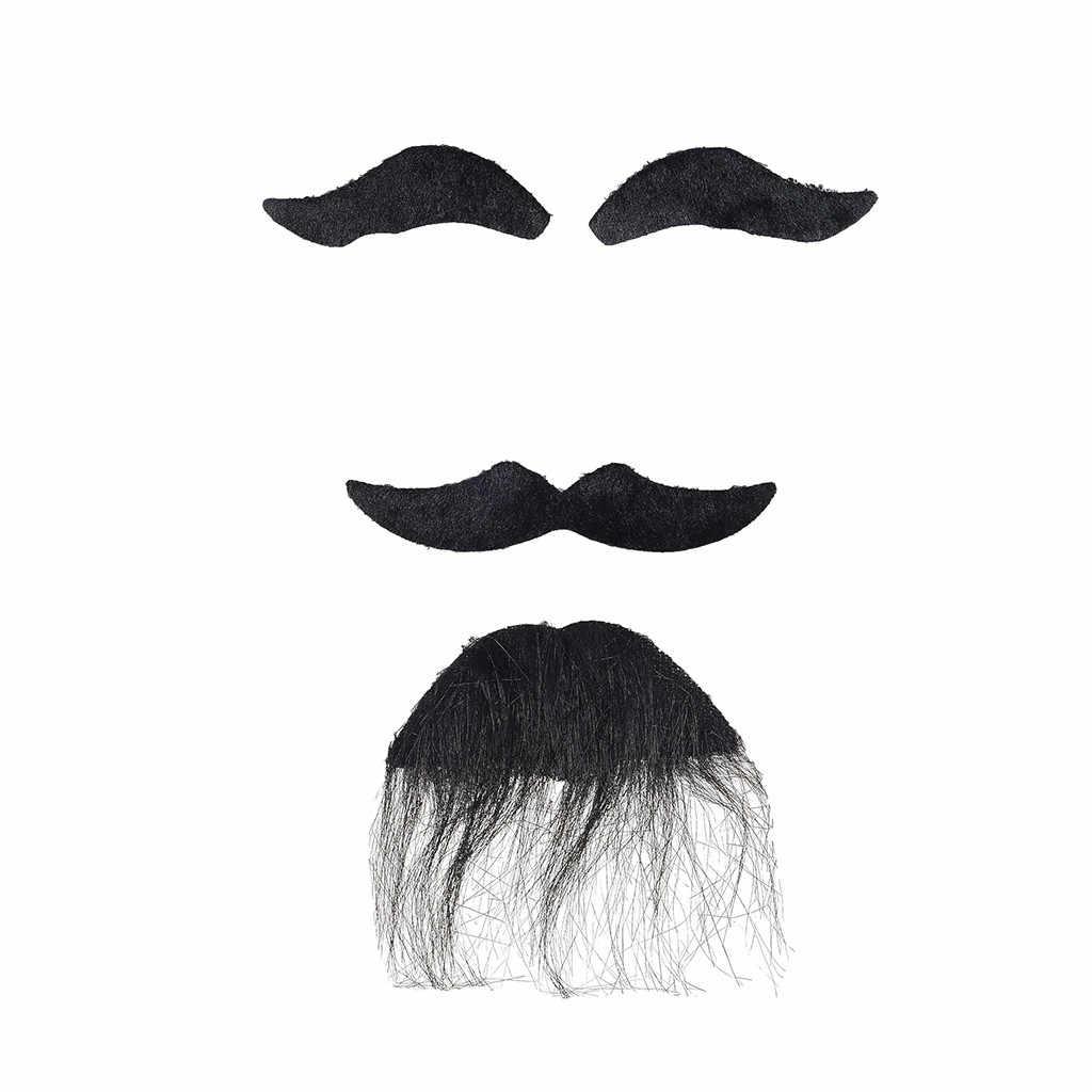 Fiesta de Halloween Cosplay Whiskers divertido disfraz bola bigote broches prácticos vestido falso barbas mujeres hombres barba regalo