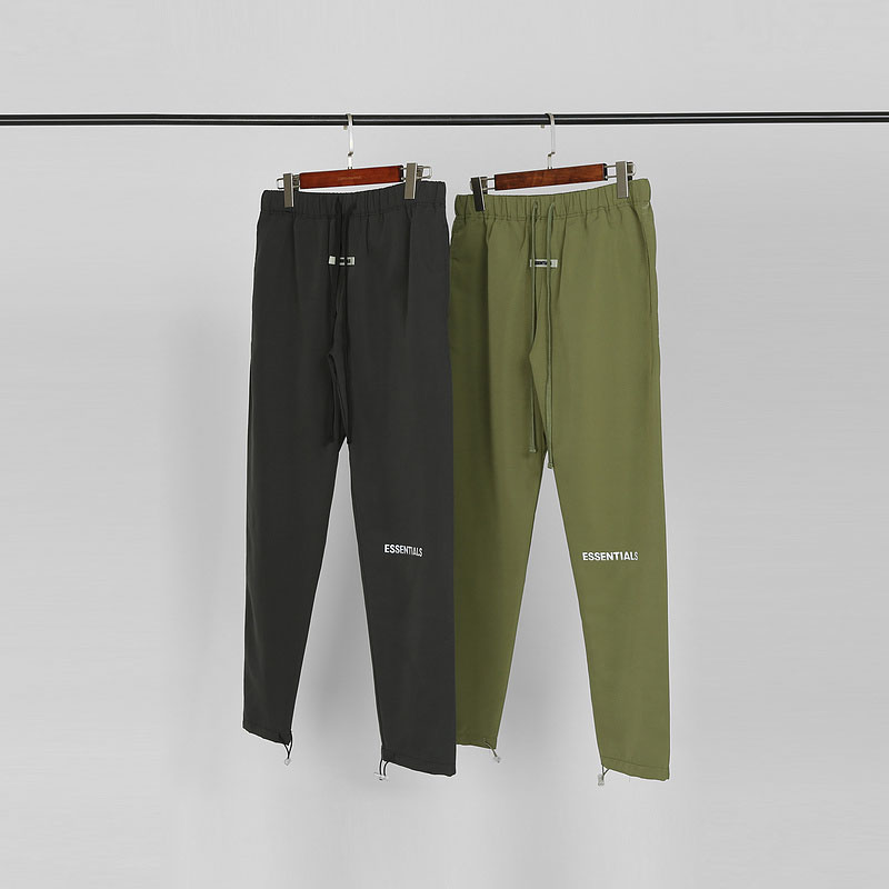 2020ss Sixth Collection Fog Essentials Track Pants Men 3M Reflecetive Army Green Casual Pants Joggers Loose Fit Sweatpants Men