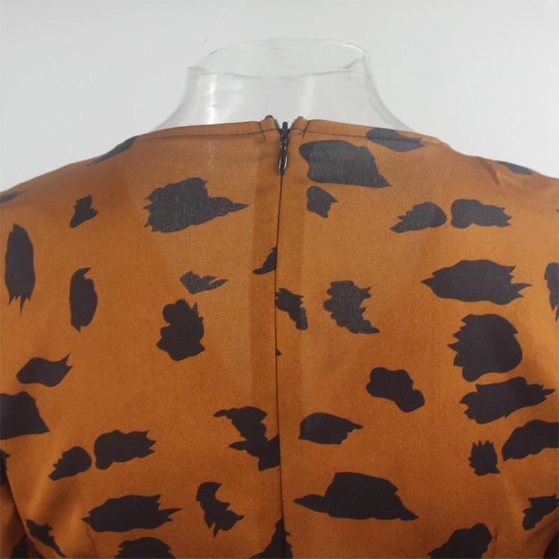 Ruffled Cutout Leopard Mini Dress