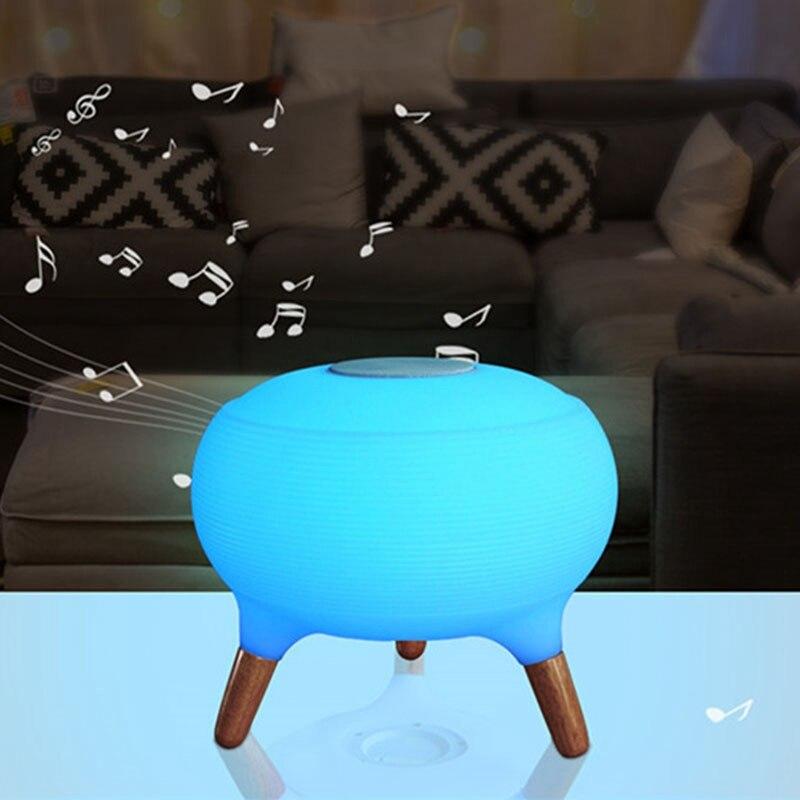 Bluetooth колонки красочный пульт дистанционного управления небольшой Настольный светильник светодиодный ночник зарядка умный дом модная лампа