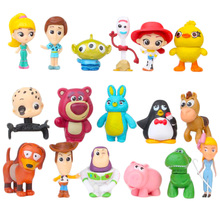 17PCS Toy Story 4 Cartoon Figurine Toys Forky Woody Buzz Lightyear Jessie Doll Model Creative DIY Toy for Children Xmas Gift