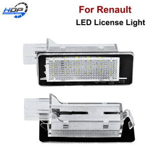 2Pcs Error Free For RENAULT Modus Grand Modus Scenic II 5D Scenic III 5D ZOE Car LED Number License Plate Light Kit Car-Styling(China)