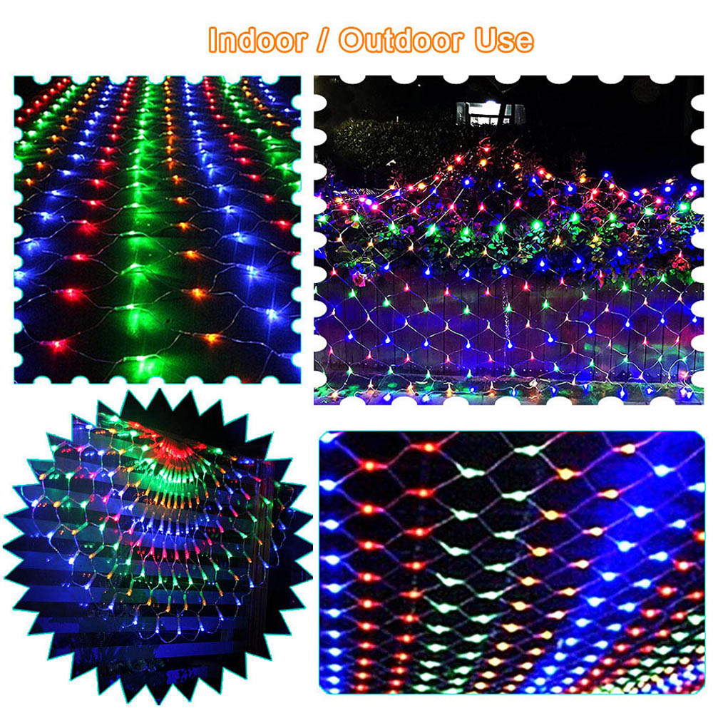 Mesh LED Net Garland Fairy Lights 220V Holiday Wedding Outdoor Lighting String Light Decoration Christmas Garden Lampjes Slinger