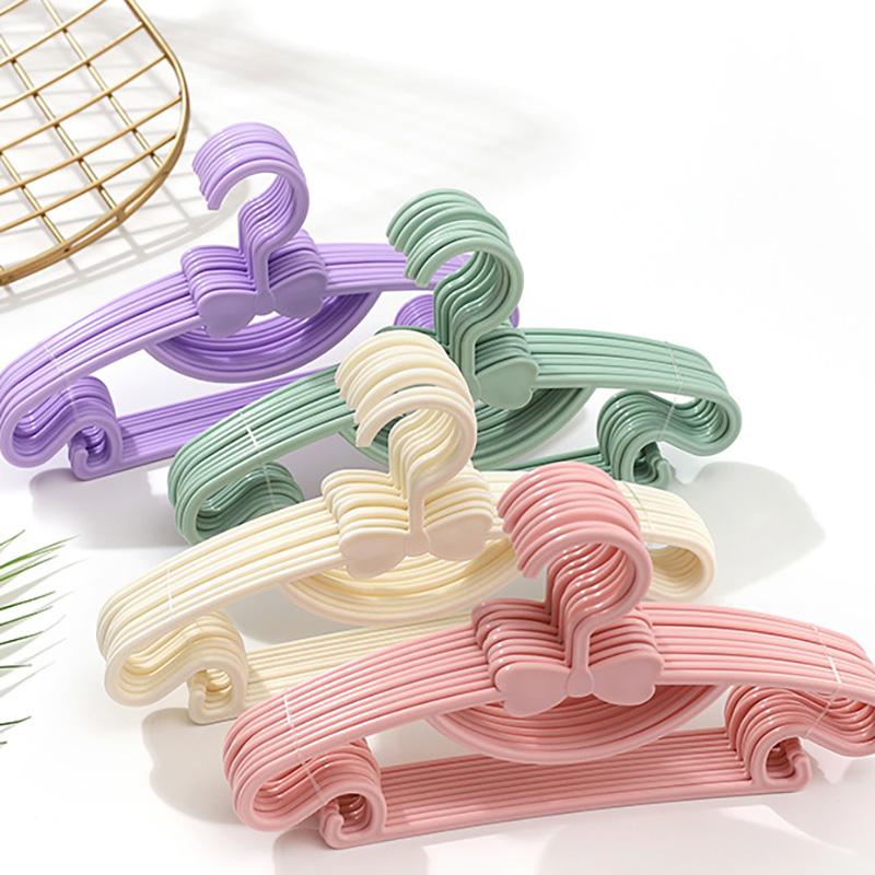 5/10/20pcs Kids Clothes Hanger Racks Portable Plastic Display Hangers Windproof Children Coats Hanger Baby Clothing Organizer