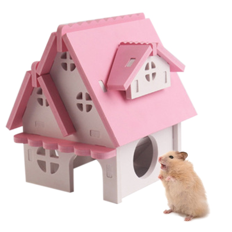 Multifunction Hamster Exercise Climbing Toy And Wooden House Small Pet Cage Decoration Small Pets Toys
