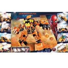 8pcs Avengers 4 Spider Man Batman Molten Building Blocks Bricks Boy Toys B685