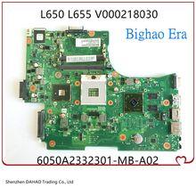 V000218130 V000218140 V000218030 Para Toshiba Satellite L650 L655 Laptop Motherboard Com HM55 DDR3 HD4500 100% Testado Inteiramente