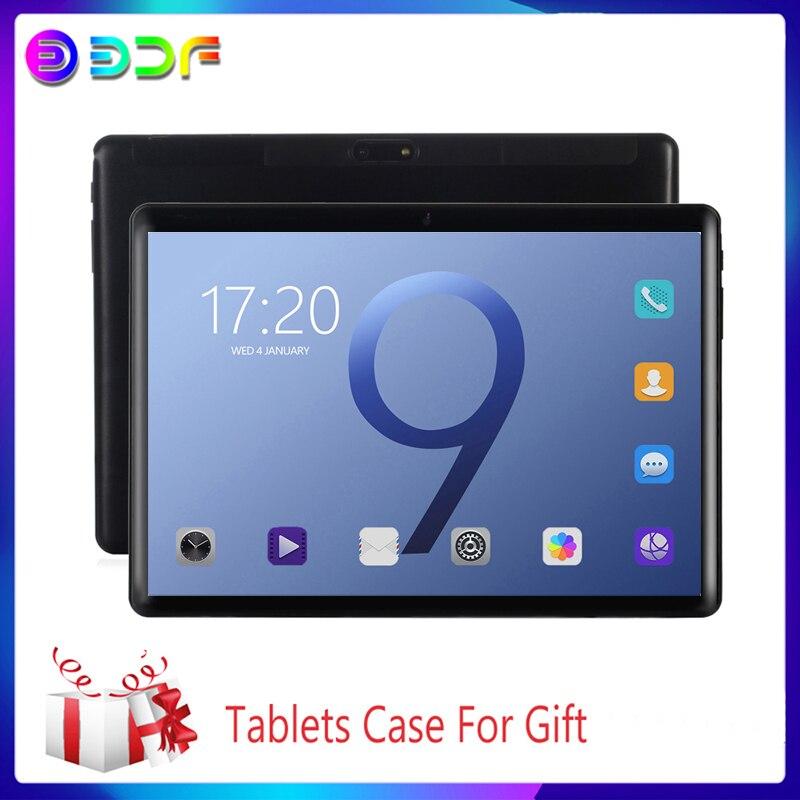 10.1 polegada tablet pc novo android 9.0 tablets 3g/4g telefone chamada octa núcleo 6gb + 64gb rom bluetooth wi-fi 2.5d tela de aço tablet