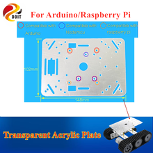 DOIT Low Price Transparent 148*102mm Acrylic Plate for Arduino, Raspberry Pi, Plastic Frame, Smart Car Chassis