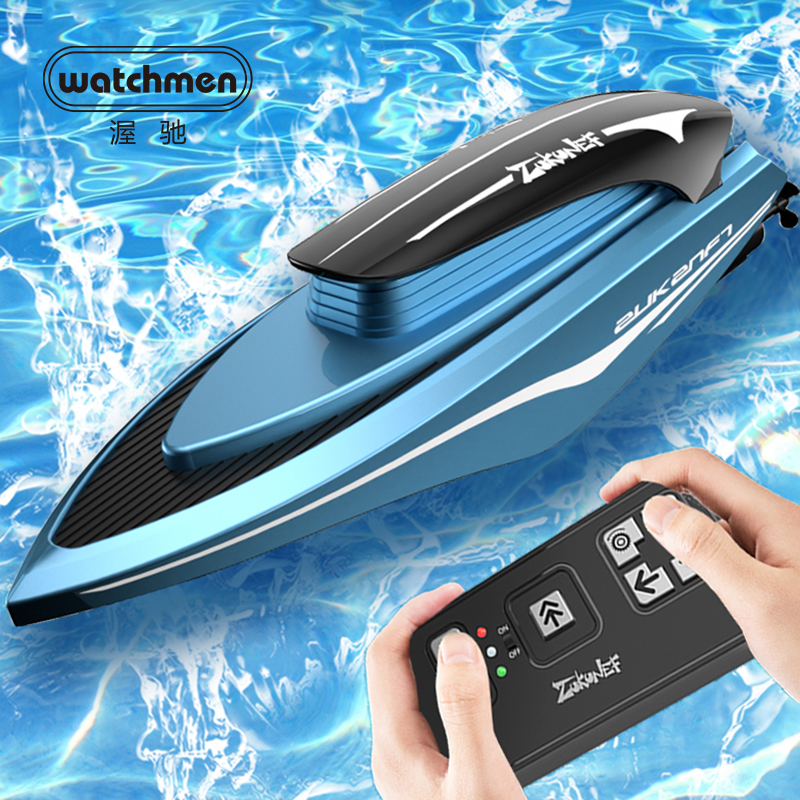 2.4G Mini RC Boats High Speed Electronic Racing Remote Control  Ship Children Competition Water Toys Kids Gifts Led Light