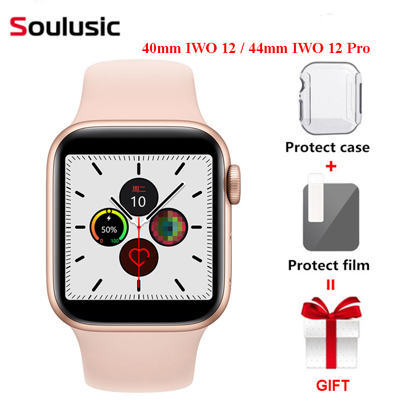 40mm <font><b>IWO</b></font> 12 / 44mm <font><b>IWO</b></font> 12 Pro Waterproof Smart Watch Series 5 <font><b>1</b></font>:<font><b>1</b></font> Case for IOS Android Smartwatch image