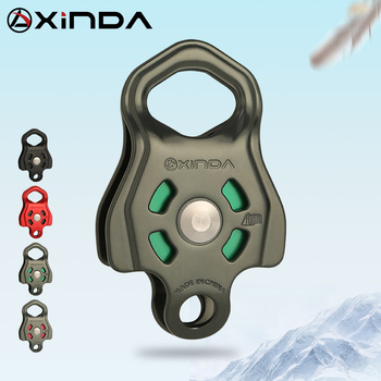 XINDA Professional Single Pulley Gear in ball bearing Mountaineering Rock Climbing Zipline Traverse-solving Carriage pulley - discount item  29% OFF Camping & Hiking