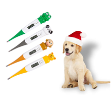 Cute Pet Digital Led Thermometer Cartoons Veterinary Body Thermometer Waterproof For Dogs Horse Cats Pigs Sheep