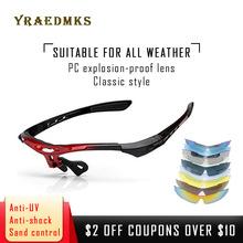 Yraedmks DIY UV400 spolaryzowane mężczyźni Wome okulary rowerowe rama i soczewki okulary Outdoor Sports Mountain Bike óculos Ciclismo tanie tanio 44mm Poliwęglan Octan 41mm Unisex UV400 Polarized Photochromic Wielu Single