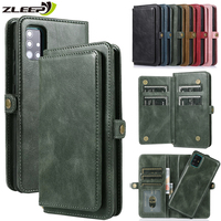 Flip Wallet Case Voor Samsung Galaxy A52 A72 A32 A42 A51 A71 A21S A11 A21 A31 A41 A81 A91 A10 a20 A30 A40 A50 A70 S Telefoon Cover