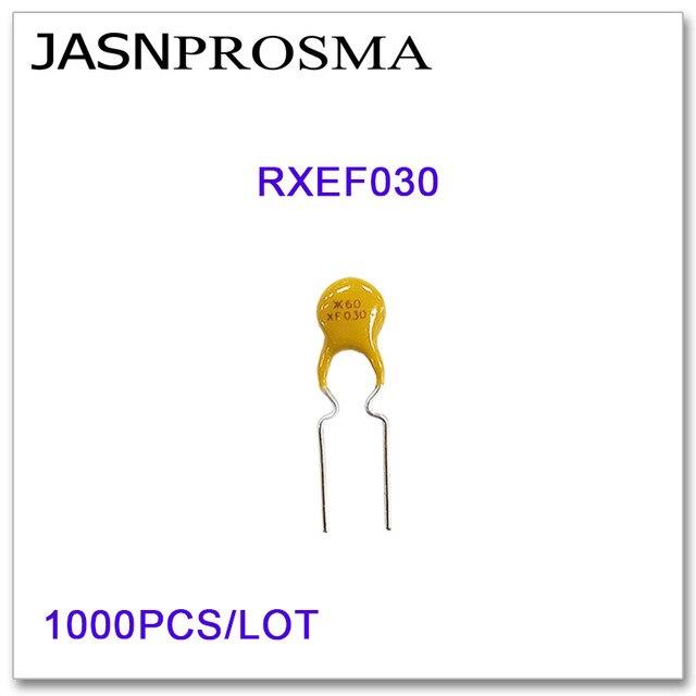 JASNPROSMA 1000PCS/LOT RXEF030 XF030 60V 300MA PTC Resettable Fuse 0.3A DIP