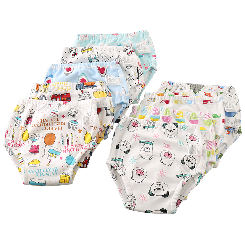 Happyflute 6layer Cotton Cloth Diaper 9-17kg Kids Breathable Reusable Baby Pants Training Underwear Unisex Nappy