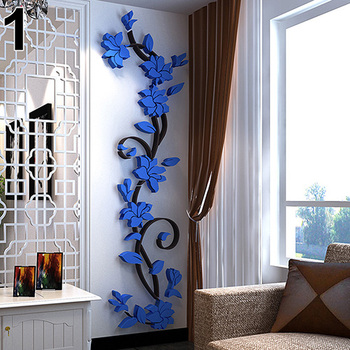New Fashion Home Living Room Decorations Wall Stickers 3D Flower Removable DIY Wall Sticker Decal Mural 4