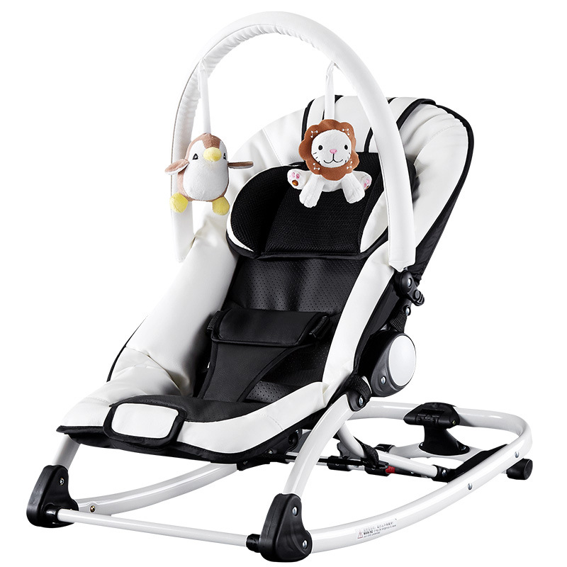 Hfc9d067cb67d4f7f9fe88a55e94aed06U Baby cradle electric baby rocking chair baby swing sleeping cradle bed with music comfort rocking chair Multifunctional berceau