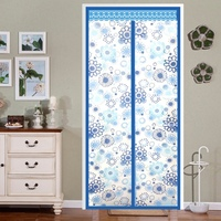 Air Conditioner Room/Kitchen Magnetic Screen Door Magnetic Thermal Insulated Mesh Screen Door Curtains