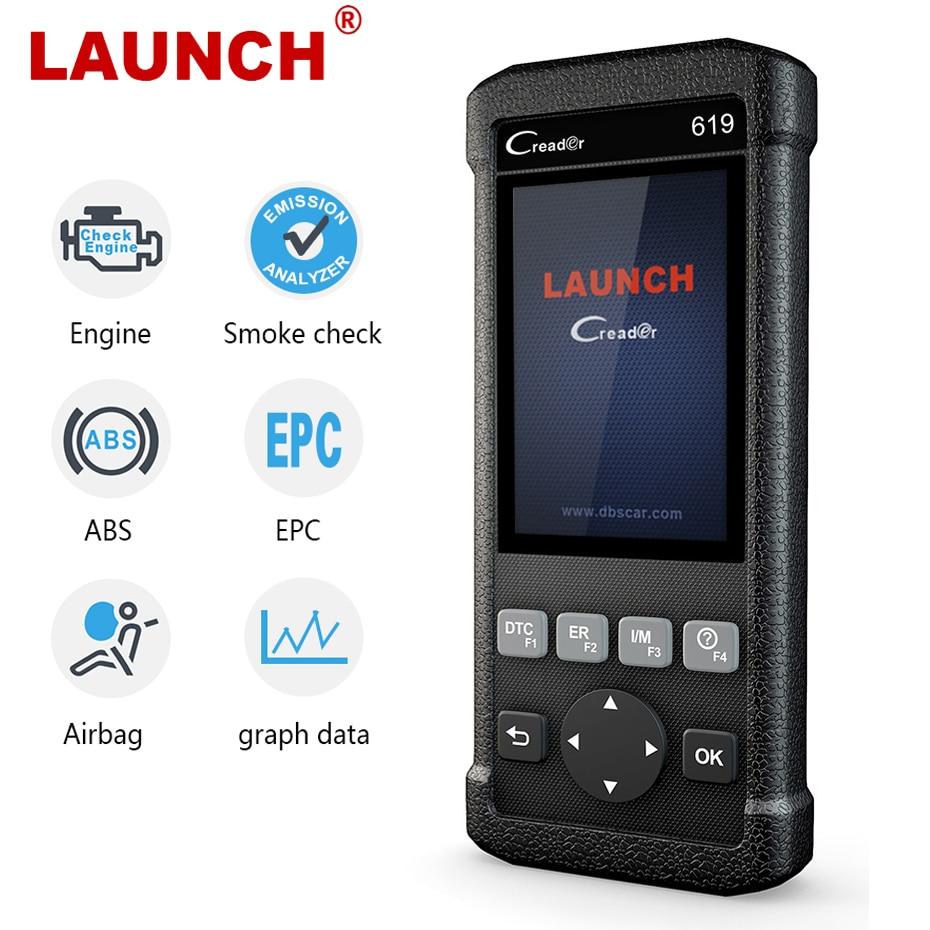 Launch Creader CR619 OBD2 сканер ABS Airbag SRS сканер кодов двигателя obd 2 диагностический инструмент для диагностики автомобиля