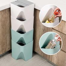 Papelera de cocina apilable, papelera de reciclaje, papelera de clasificación, papelera para el hogar, separación de ropa seca y húmeda, papelera para el hogar