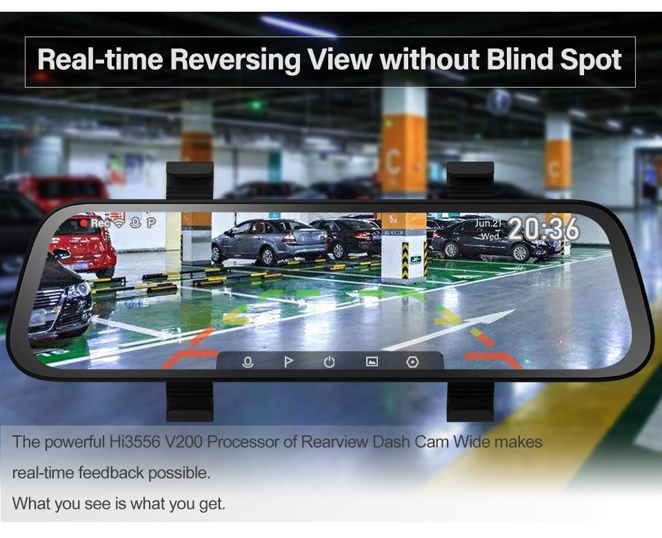 AliExpress | Dash camera auto integrată în oglindă de la 70 Mai, vedere fata + spate, HD, 23.7 cm, 130 grade vizibilitate, livrare din Polonia 9