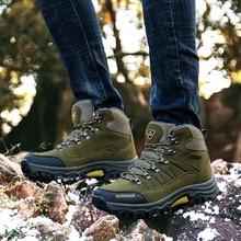 Охотничьи ботинки зимние кроссовки зимняя мужская теплая обувь из хлопка зимние большие размеры 46 Мужская горная Прогулка Спортивная обувь
