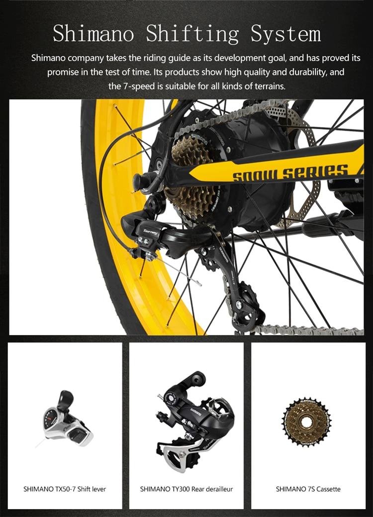 "XF4000 LANKELEISI 26"" 1000w 48v 16AH Panasoni'c Battery electric bike 10"