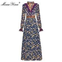 Модельное платье moaayina весна лето женское с длинным рукавом