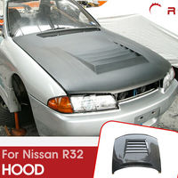 For Nissan R32 Skyline GTR D Style Carbon Fiber Glossy Finished Hood Car accessories Exterior Body kit