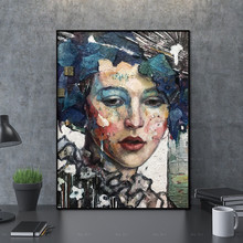 art portrait  print Wall Pictures modern wall abstract figure canvas painting Picture decor poster