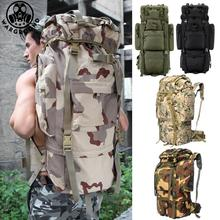 70L rain cover backpack mountaineering bag outdoor hiking tourists rucksack waterproof camouflage military