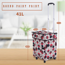 E-FOUR Shopping Cart Waterproof Oxford Cloth Aluminum Alloy Trolley with Wheels Hand Travel Car Accessories
