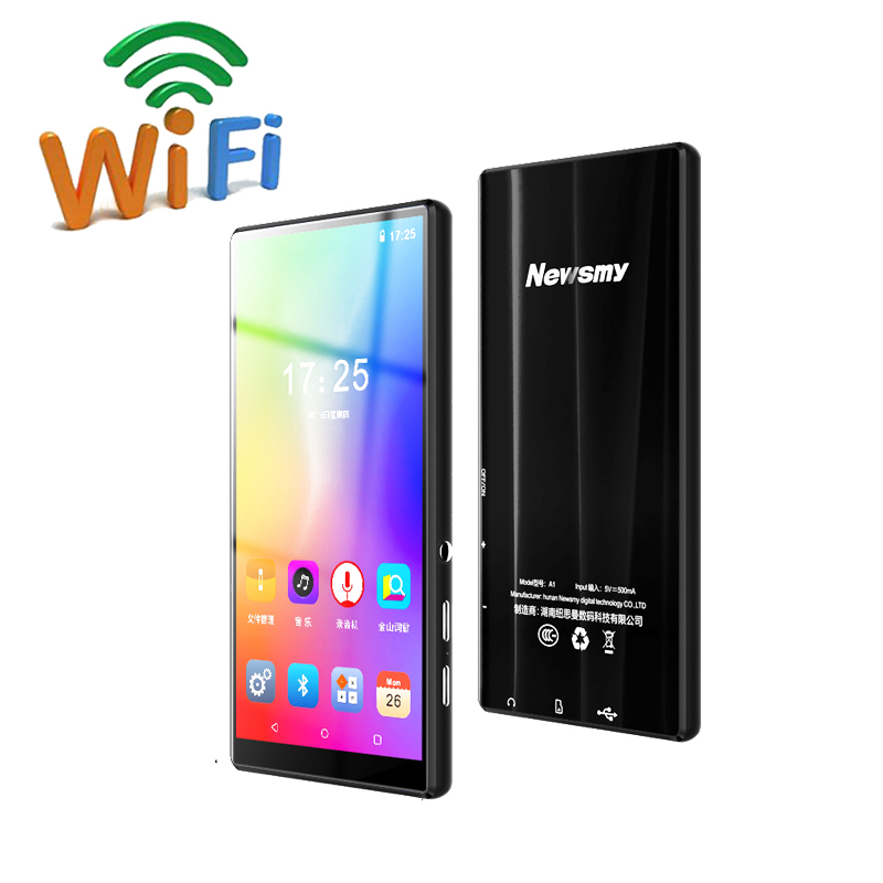 Smart WIFI MP4 5 Inch Bluetooth MP4 Portable HD Android System Touchscreen MP5 Support App Download Online Music Video Player image